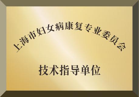 上海市妇女病康复专业委员会技术指导单位